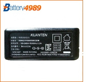 [중고][kuanten]SSA021F090050KODM/ 9V 500mA/9V 500mAh/9V500 mAh/9v0.5A (5.5/2.1mm)IP TIME 아답타/ 중고 어댑터